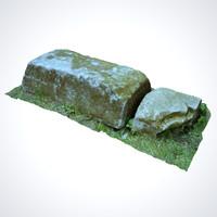 3d model stone scan ready