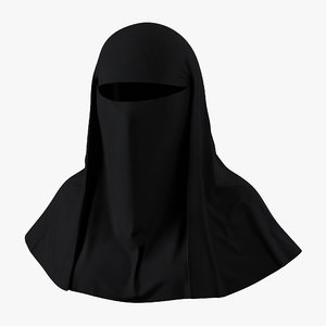 muslim islamic women burqa 3d 3ds