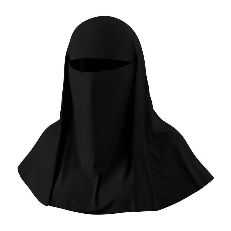 muslim islamic women burqa 3d 3ds