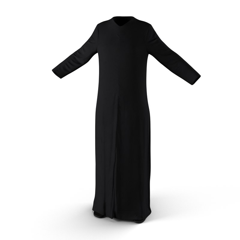 traditional arab ladies dress 3d model