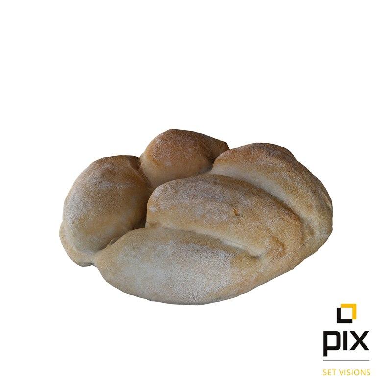 small bread roll 3d model