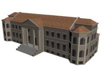 3d model manor house