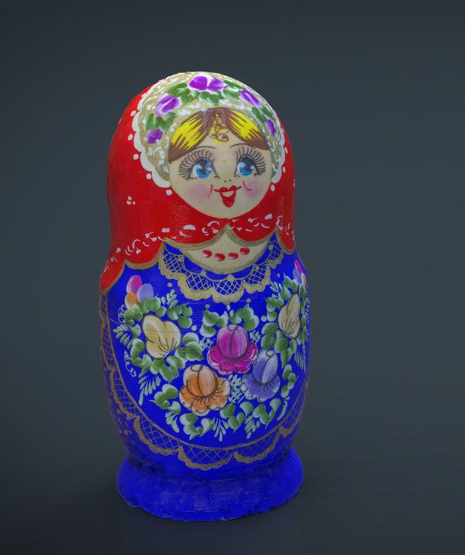 russian matrioska 3d max