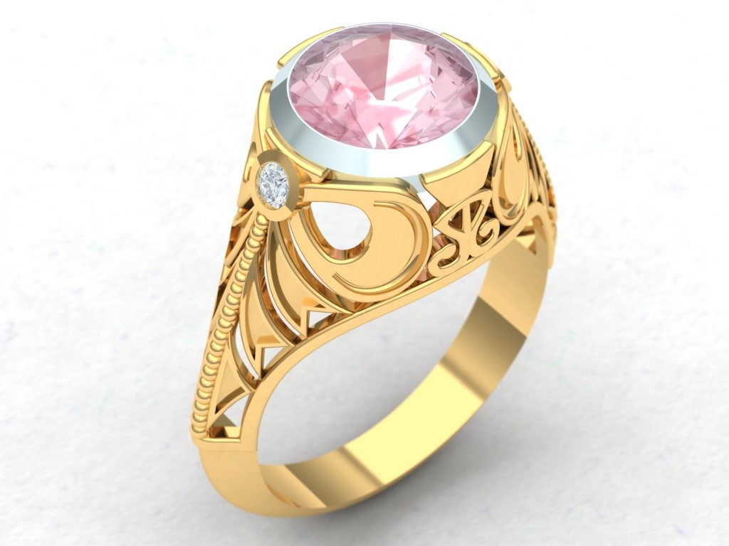 3d model filigree dress ring