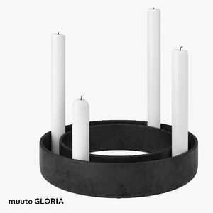 3ds muuto gloria candlestick candles