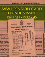 WWII Pension book
