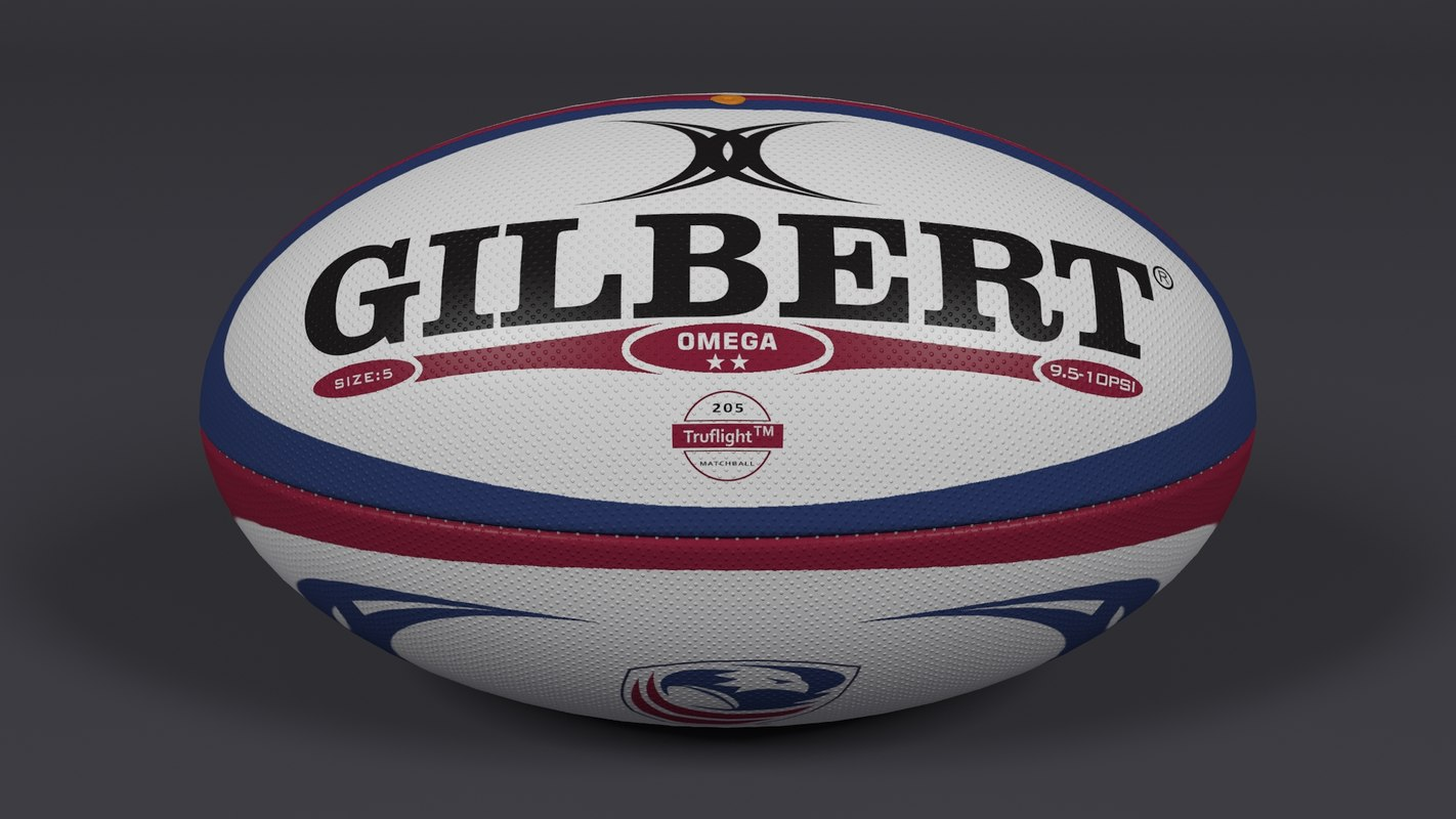 3d model rugby ball