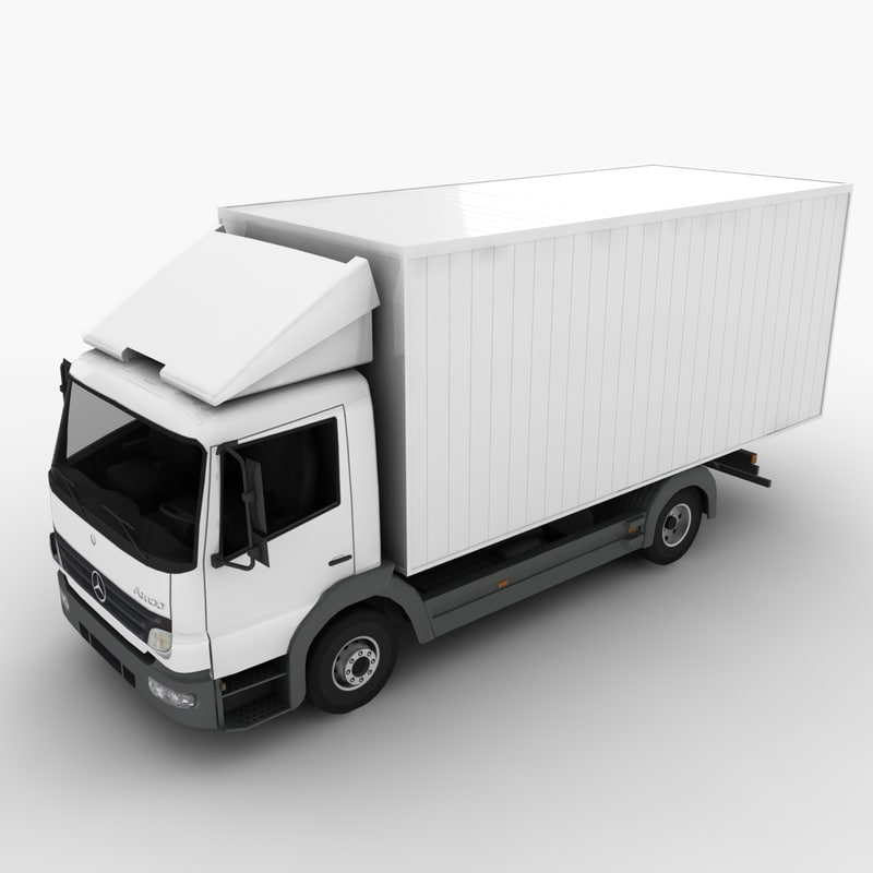mercedes-benz atego truck 3d max