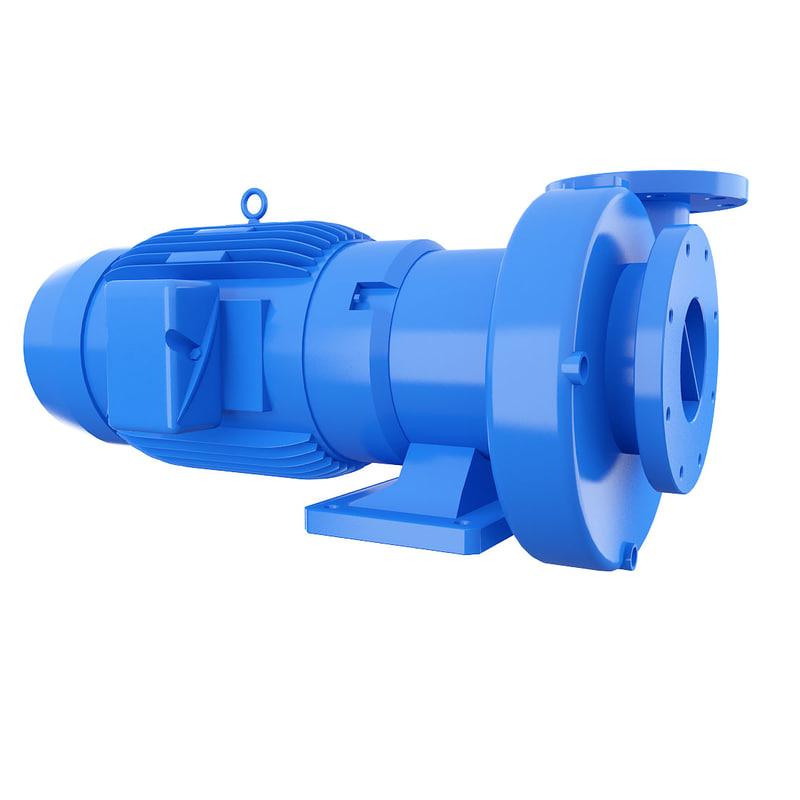 paco end suction pumps 3d model