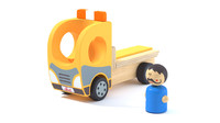 Toy Wood Tow Truck and Character Camion et personnage en bois Jouet