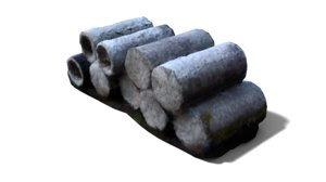 cement cylinders 3ds