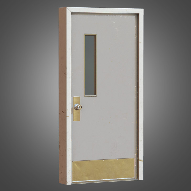 3d metal interior door - model
