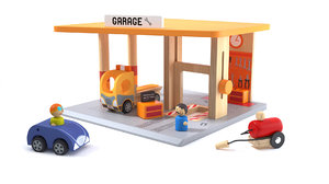 garage wood toy jouet 3d model