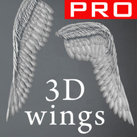 Angel Wings 3D Feathers Constantine Realistic