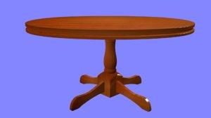 table wood 3d model