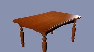 wooden table 3d blend