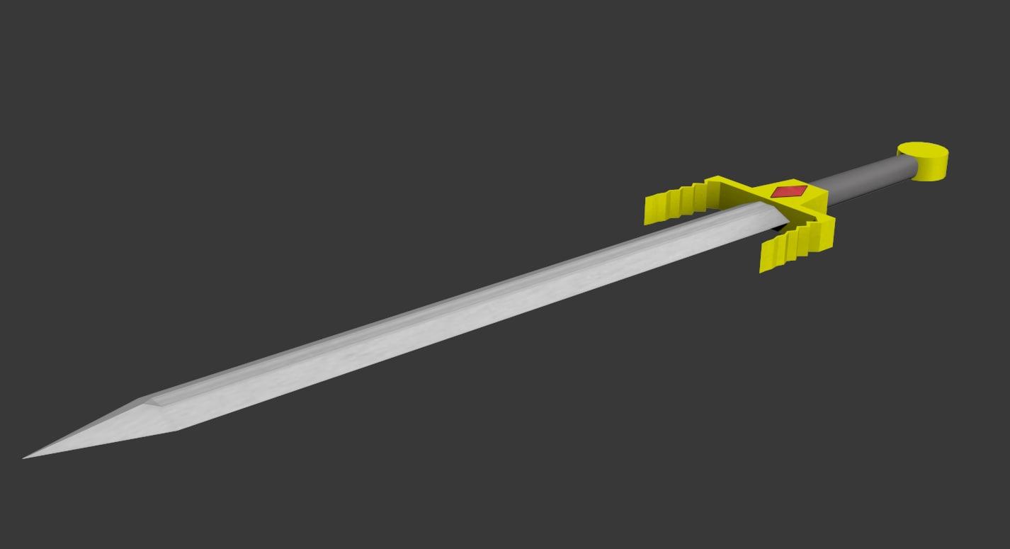 3d fantasy sword