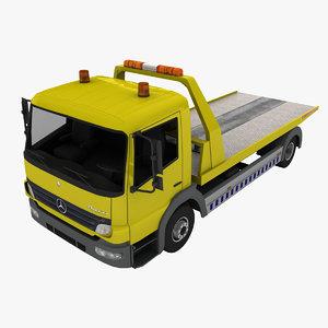 mercedes-benz atego tow truck 3d model