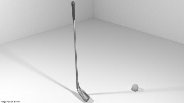 golf sport equipment 3d 3ds