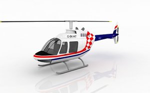 helicopter bell 206 3d model