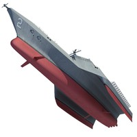 trimaran military ship 3ds