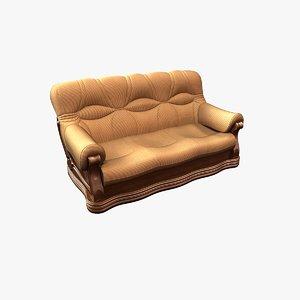 3d obj realistic sofa 1