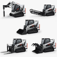 Bobcat T590 Compact Track Loader and Attachments Equipment