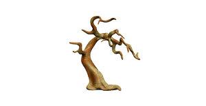 old fantasy tree 3d obj