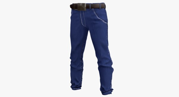 realistic jeans pants 3d model