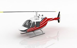3d helicopter bell 206