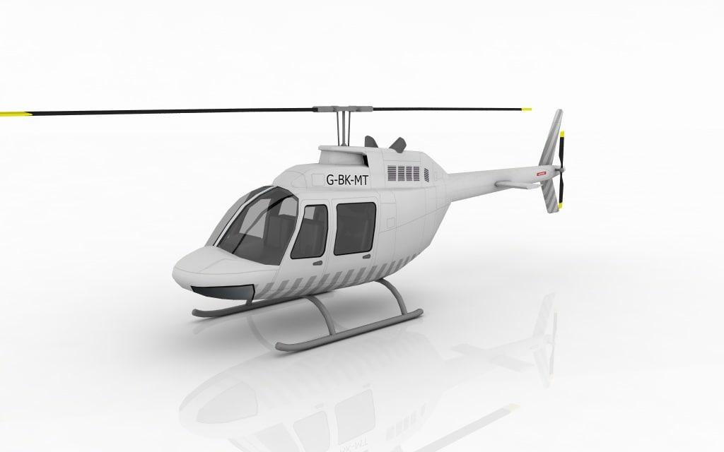 helicopter bell 3d obj