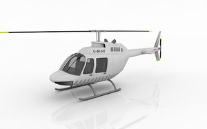 helicopter bell 3d obj