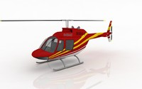 helicopter bell 206 3d max