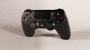 ps4 controller 3d model