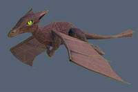low-poly little dragon