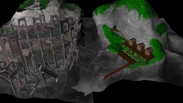 free island altar 3d model
