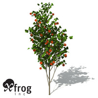 xfrogplants paper mulberry tree plant 3d max