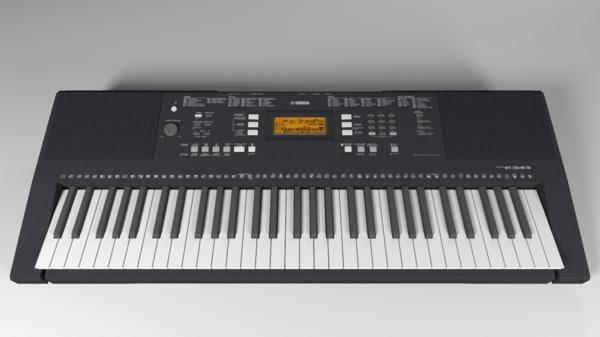 synthesizer yamaha psr 3d obj