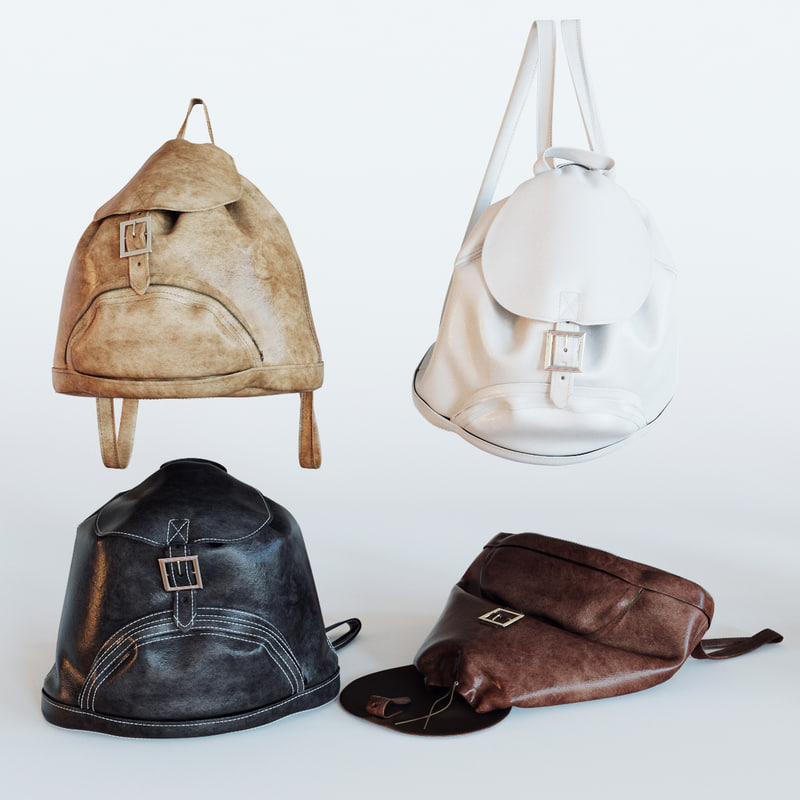 3d backpack leather