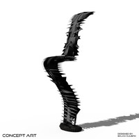 3d concept art chair model