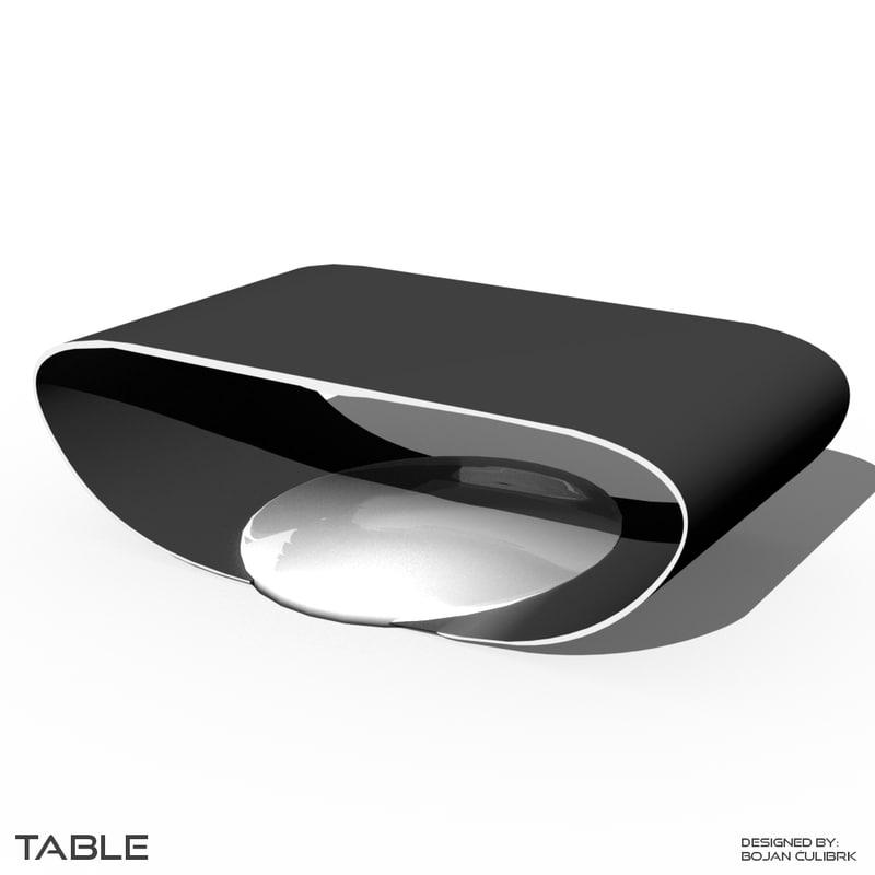 obj futuristic table desk bench