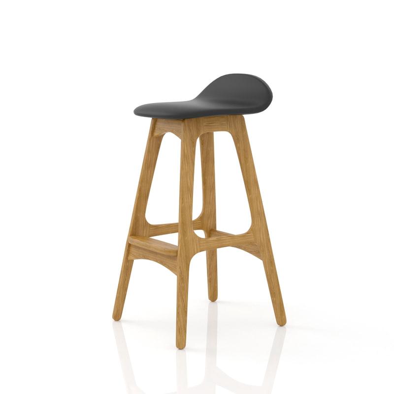 erik buch bar stool 3d model