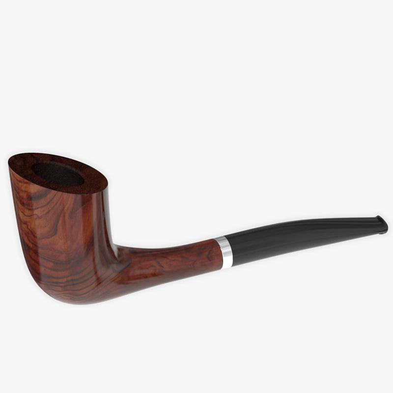 tobacco pipe 3d max