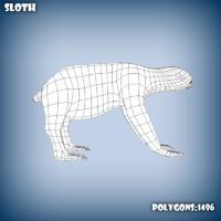 base mesh sloth 3d x
