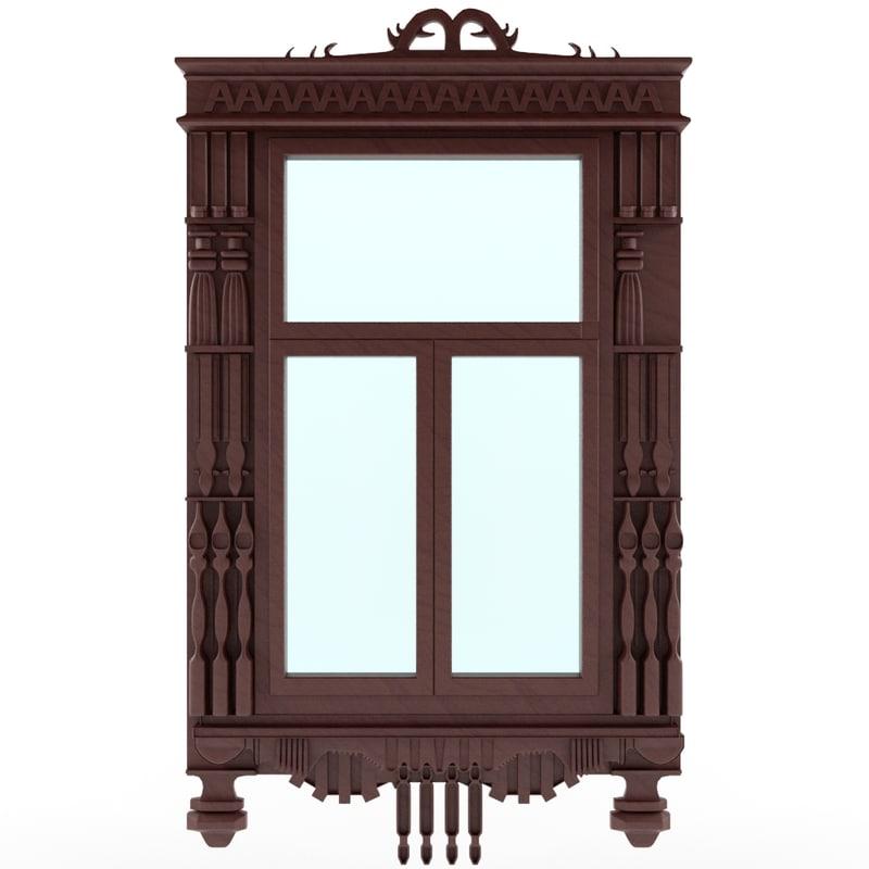 3d window model