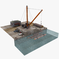 old harbor wooden crane max