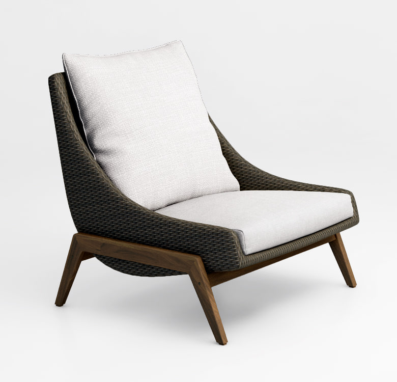 3d model contemporary garden chair