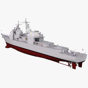 ticonderoga class cruiser port 3d 3ds