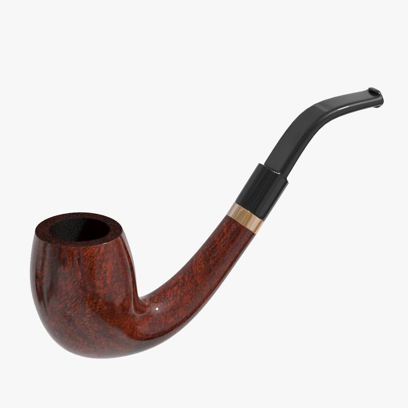 smoking pipe obj