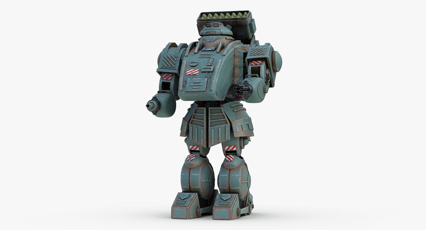 3d scifi robot model